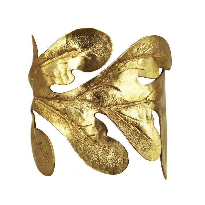 BRACELET FIG LEAF GOLD BRONZE