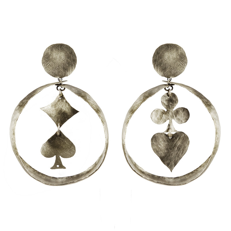 EARRINGS LUCKY DROPS WHITE BRONZE
