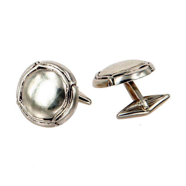 CUFFLINKS CAPSULE WHITE BRONZE
