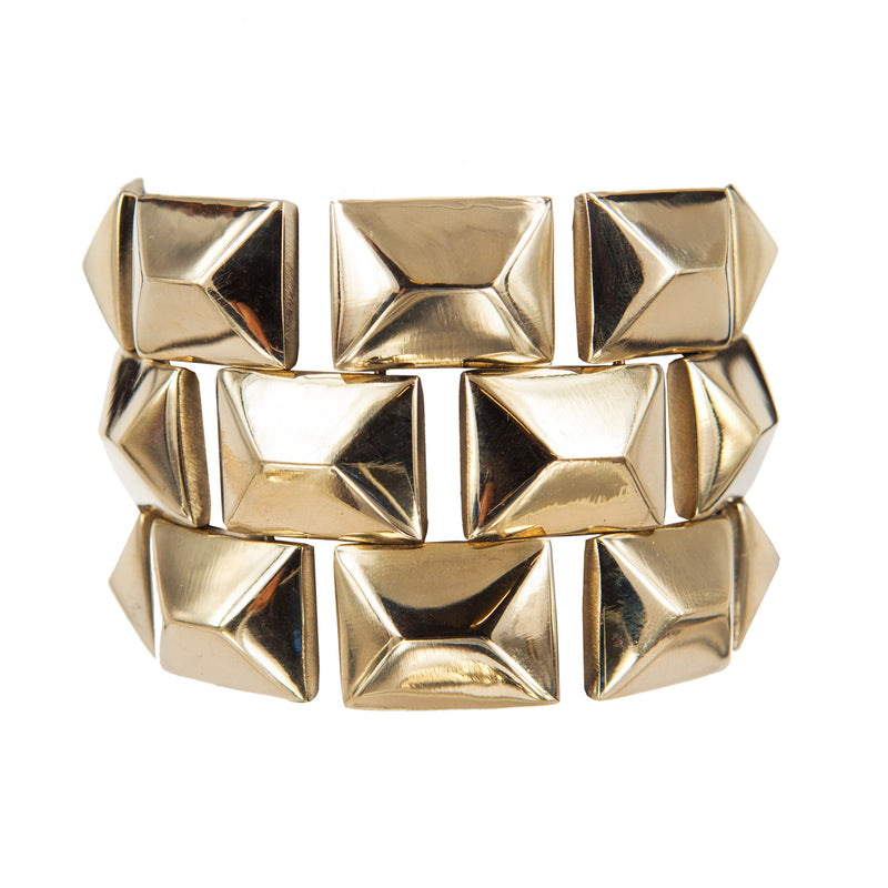 BRACELET  PRISMS GOLD BRONZE