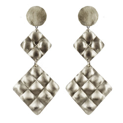 EARRINGS  MATELASSE' WHITE BRONZE