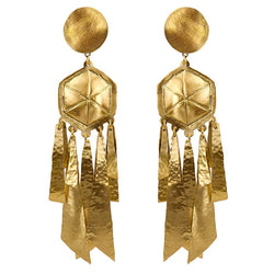 EARRINGS LIGHTNING GOLD BRONZE