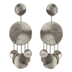 EARRINGS JELLYFISH WHITE BRONZE