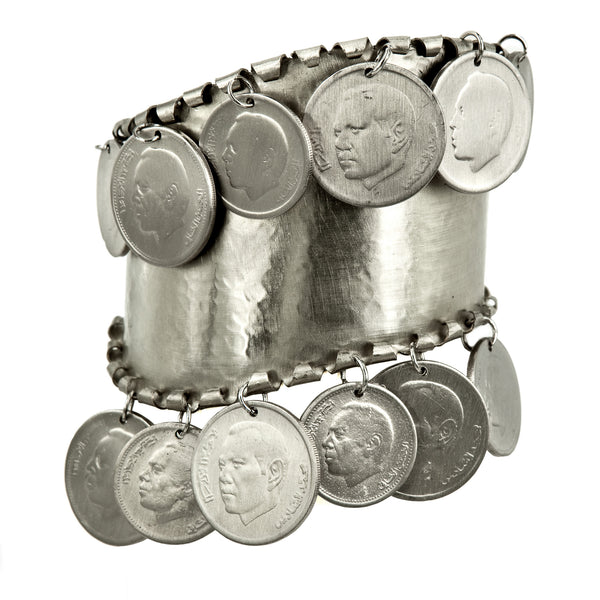 BRACELET LITTLE COINS WHITE BRONZE