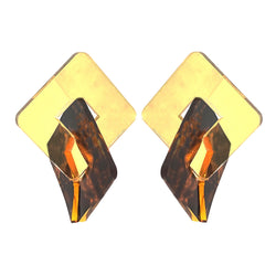 EARRINGS ROMBHUS MIRROR GOLD & SPOTTED