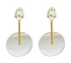 EARRINGS GOLD BRONZE PLEXI CHUPA CHUPA MIRROR