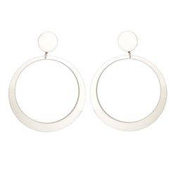 EARRINGS MAXI HOOPS WHITE