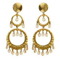 EARRINGS DANCERS GOLD BRONZE