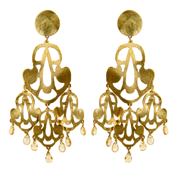 EARRINGS BELLS GOLD BRONZE