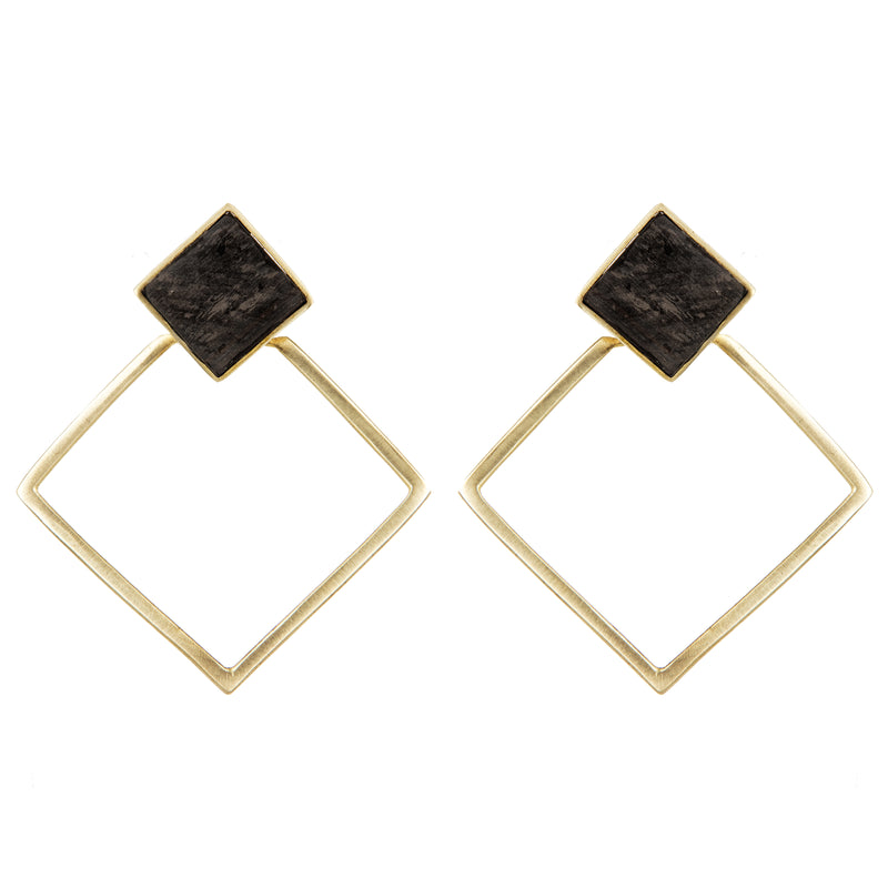 EARRINGS CUBE EBONY