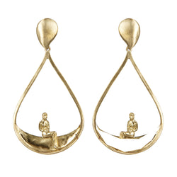 EARRINGS HALFMOON 2 GOLD BRONZE
