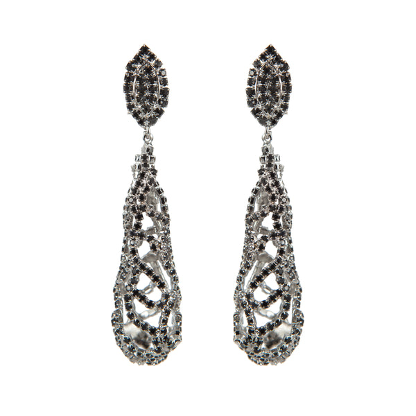 EARRING LAVA DROPS BLACK