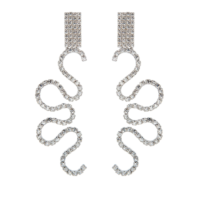 EARRINGS SNAKES CRYSTAL