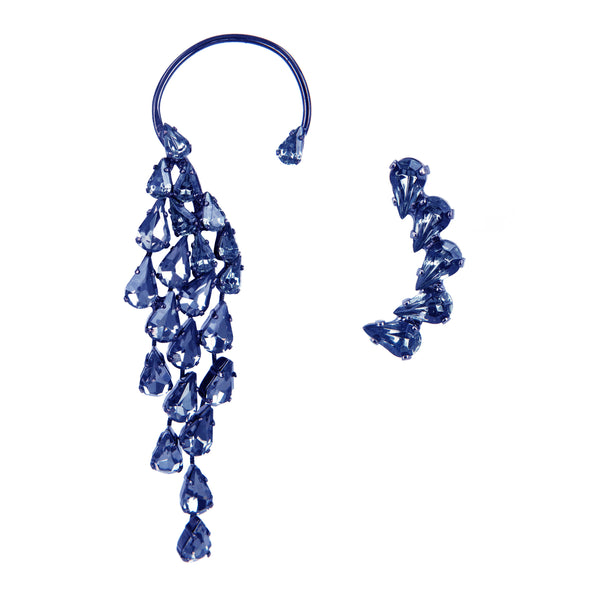 EARRING WINGS BLUE