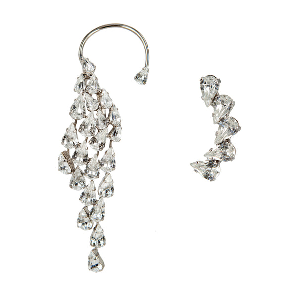 EARRING WINGS CRYSTAL