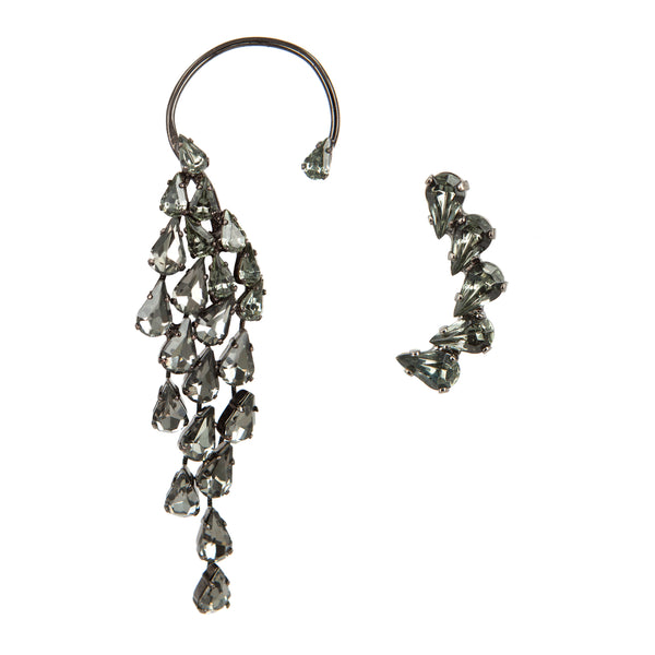 EARRING WINGS GREY