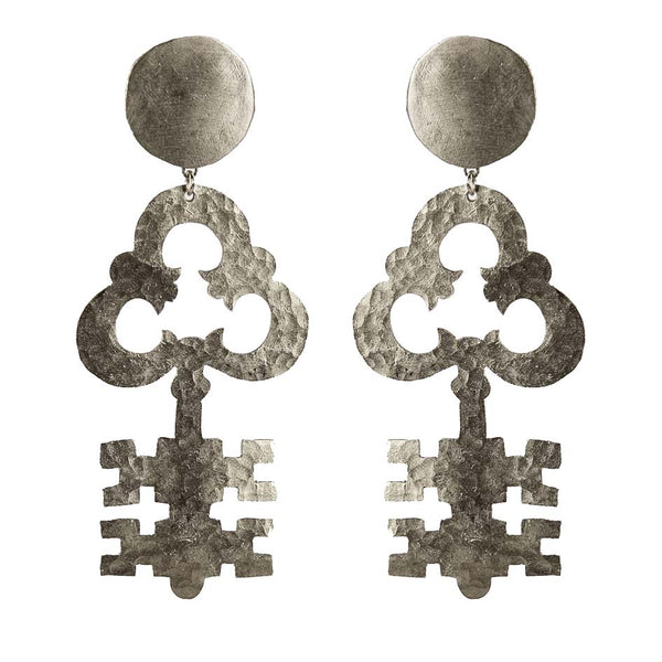EARRINGS PASSPARTOUT WHITE BRONZE