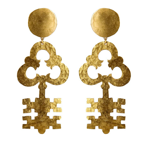 EARRINGS PASSPARTOUT GOLD BRONZE