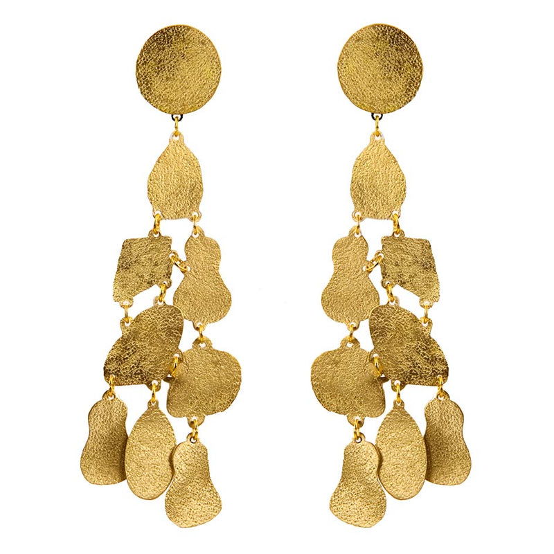 EARRINGS PUZZLE GOLD BRONZE