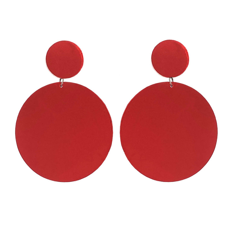 EARRINGS MAXI DOTS RED