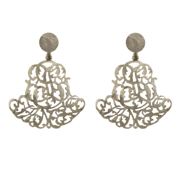 EARRINGS ROYAL WHITE BRONZE