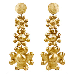 EARRINGS 3CRESTS GOLD BRONZE