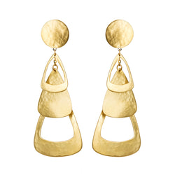EARRINGS TRIANGLES GOLD BRONZE