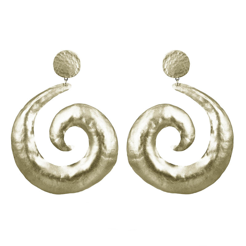 EARRINGS VORTEXES WHITE BRONZE