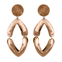 EARRINGS V ROSE BRONZE