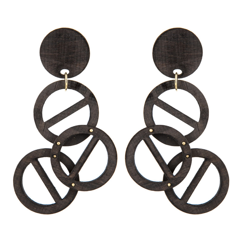 EARRINGS ROAD BAN EBONY