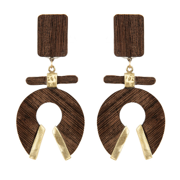 EARRINGS HORSESHOES EBOY WENGE