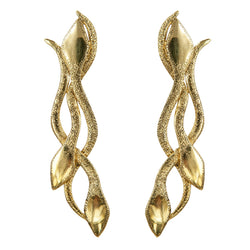 EARRINGS SNAKE GOLD BRONZE
