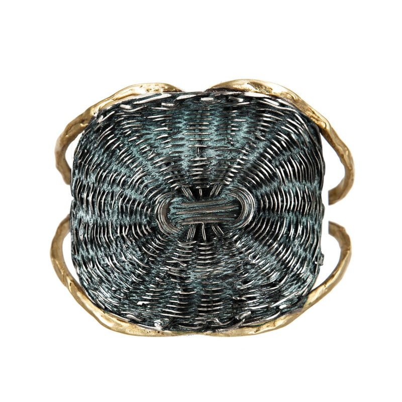 BRACELET BASKET BLACK GOLD BRONZE