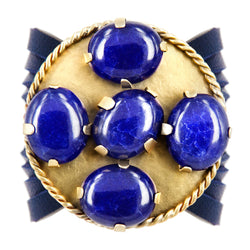 BRACELET CANDY GOLD BRONZE AND SAPPHIRES