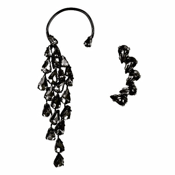 EARRING WINGS BLACK