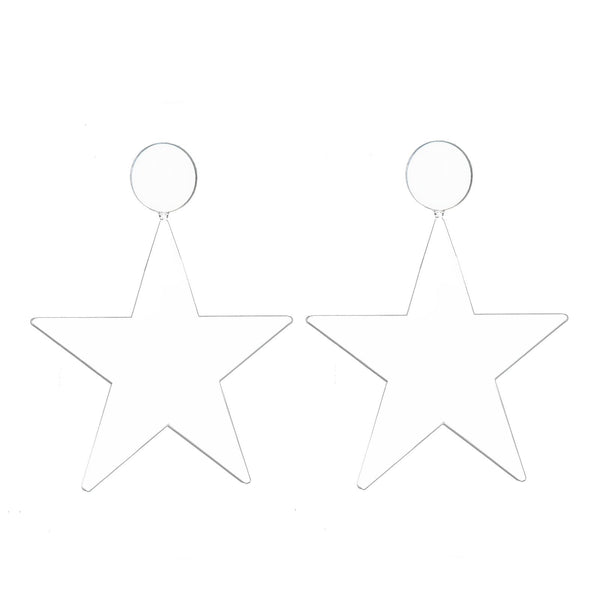 EARRINGS MISS KATIA STARS WHITE