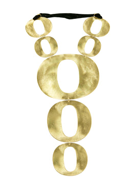 "NECKLACE ""O"" GOLD"