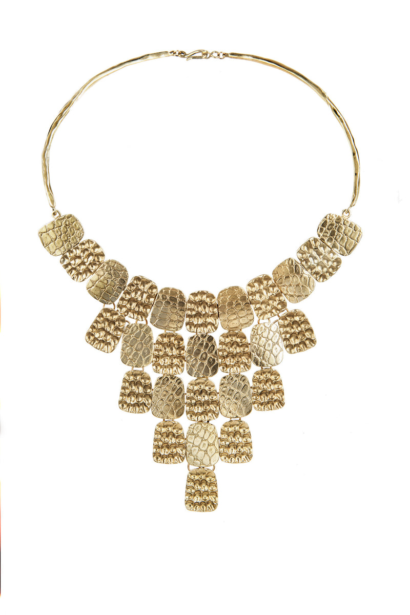 NECKLACE SERPENTAINE COBRA GOLD