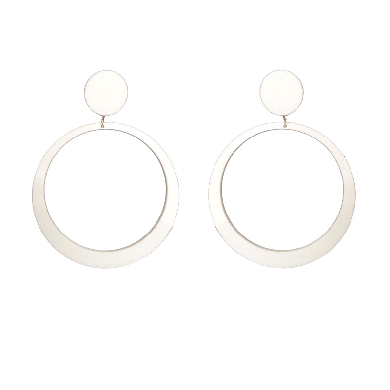 EARRINGS MINI HOOPS WHITE