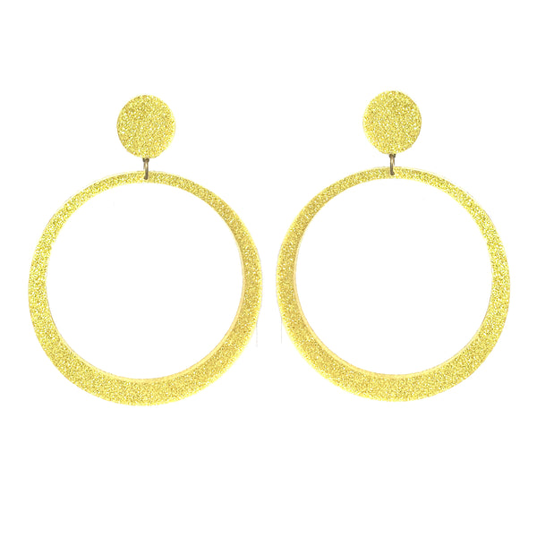 EARRINGS MAXI HOPES GOLD GLITTER