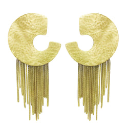 EARRINGS MOON & CHIAINS GOLD BRONZE