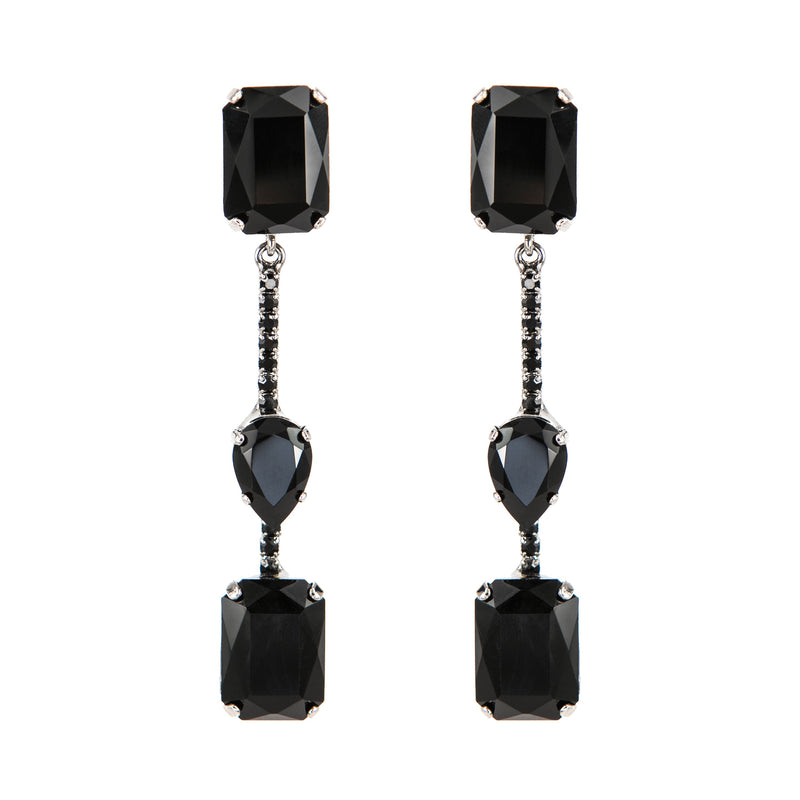 EARRING BIO RUTHENIUM BLACK