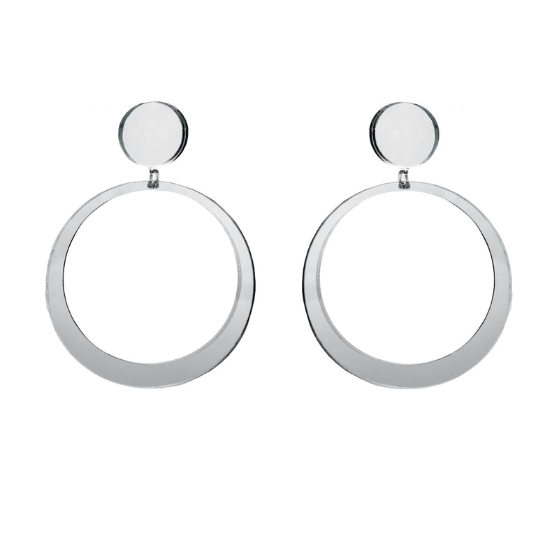 EARRINGS MINI HOOPS GREY