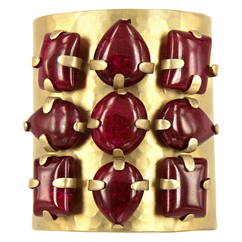 BRACELET VALCHIRIA GOLD BRONZE - RED