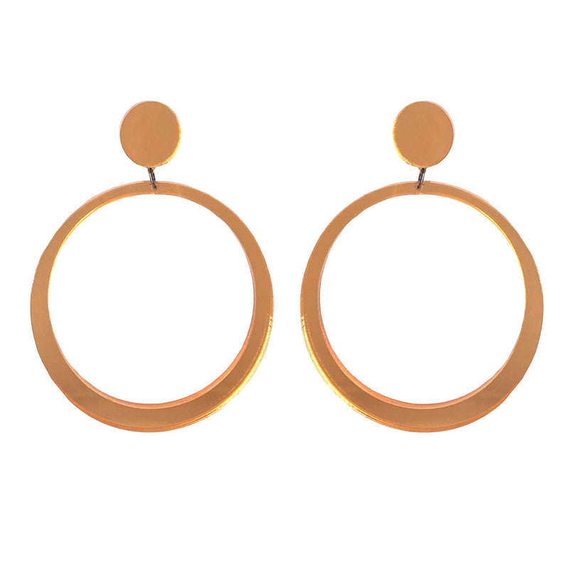 EARRINGS MAXI HOOPS MIRROR ORANGE
