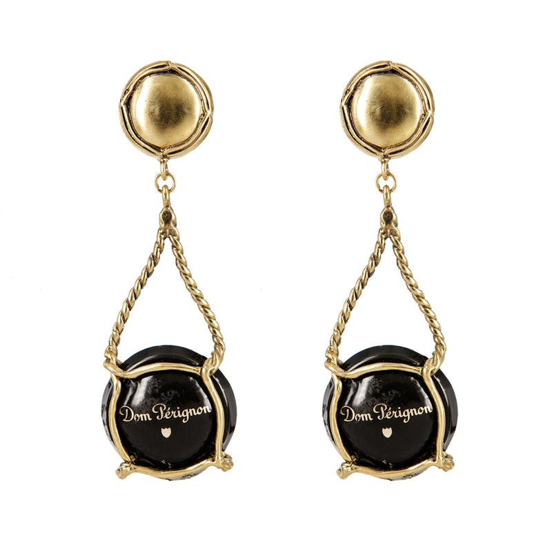 EARRINGS  CAPSULE DOM PERIGNON GOLD BRONZE