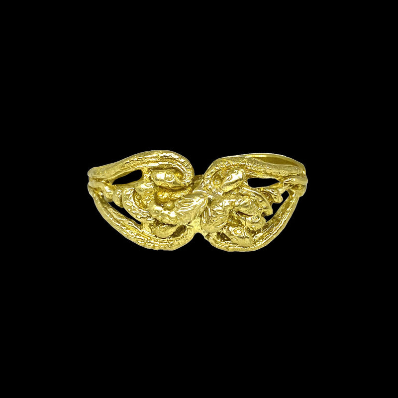 RING DOUBLE SNAKES GOLD BRONZE