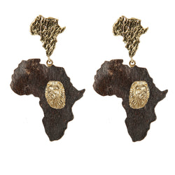 EARRINGS AFRICA LIONS