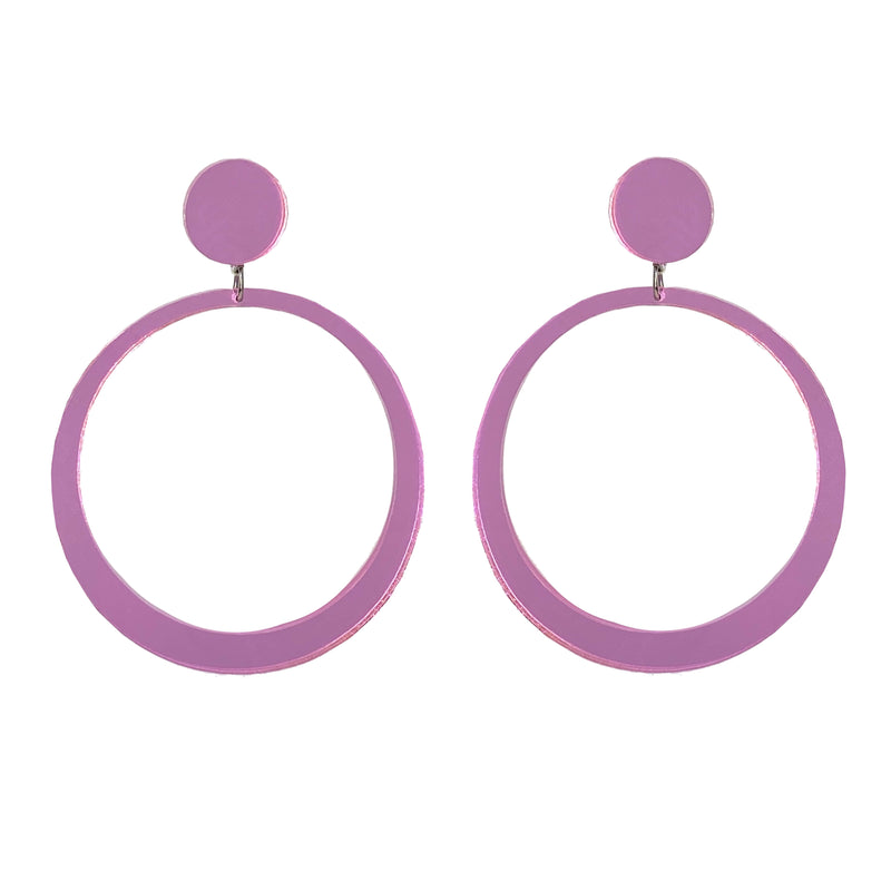 EARRINGS MAXI HOOPS MIRROR ROSE