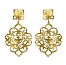 EARRINGS COFFER GOLD BRONZE & TRASPARENT PLEXI